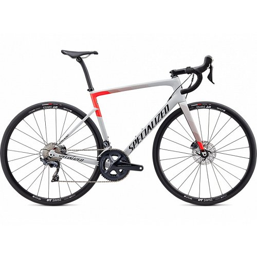 Silniční kolo Specialized TARMAC DISC COMP 2020 Gloss Dove Grey/Rocket Red/Tarmac Black