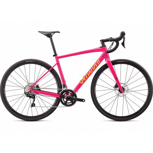 Silniční kolo Specialized DIVEREG COMP E5 2020 Gloss Vivid Pink/Golden Yellow/Black Camo
