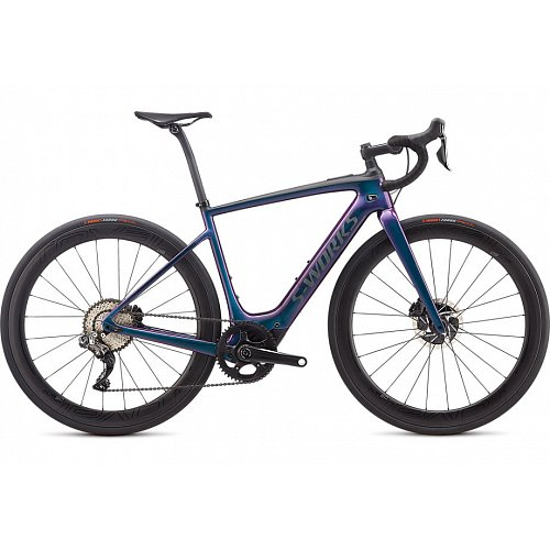 Elektrokolo Specialized S-WORKS TURBO CREO SL 2020 gloss chameleon/raw carbon