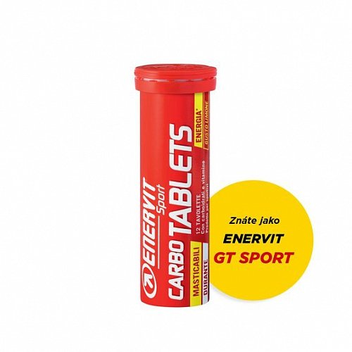 ENERVIT Carbo Tablets - 12 energetických tablet - citron