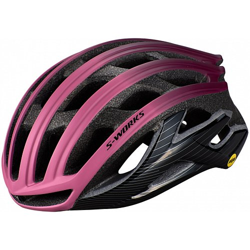 Přilba Specialized S-WORKS PREVAIL II WITH ANGI Cast Berry/Dusty Lilac