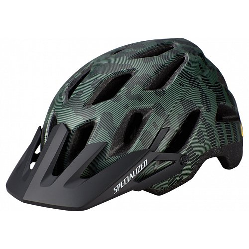 Přilba specialized AMBUSH COMP WITH ANGI Sage Green/Black Terrain